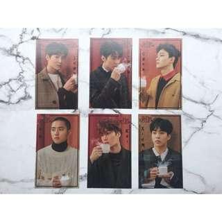 EXO小卡 拆售 雙面 非官方 演唱會周邊