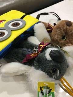 Pencil box.. kangaroo, koala bear(Free Minion pouch)
