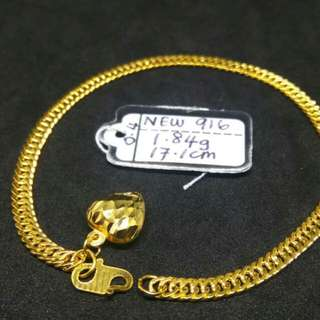 Rantai Tangan Emas 916 New