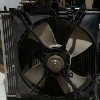 Wira Radiator 1 Set With Fan Motor.