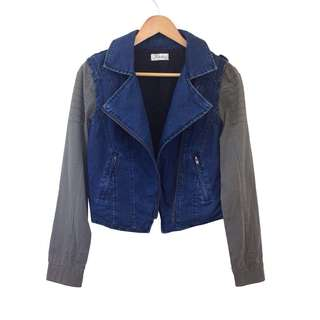 🆕 Denim Biker Jacket