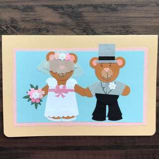 Handmade card 'Just Married'