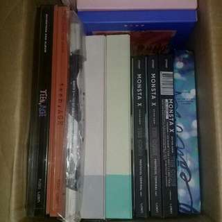 CLEARANCE SALE MONSTA X ALBUM &  SEVENTEEN ALBUM