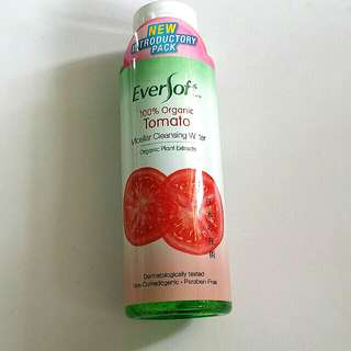 Eversoft 100% organic tomato micellar cleansing water