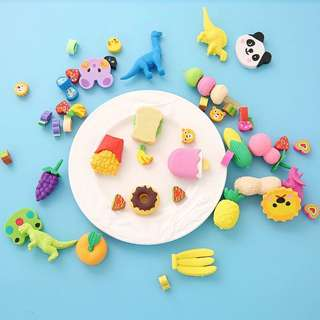 Cute rubber erasers