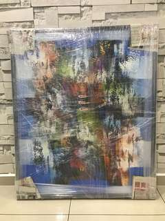 Modern oil painting with frame (92cmx110cm)