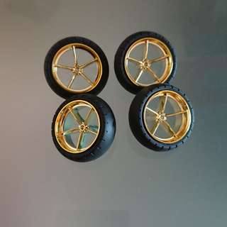 Tamiya m4wd wheels (gold plated)