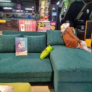 Promo tanpa dp sofa L bed hanya bayar 199 rb