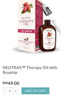 BNIB Neutrax's Therapy Oil with Rosehip: Scar Corrector