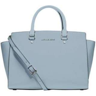 🈹️Michael Kors Light blue Medium Selma Satchel 淺藍中袋