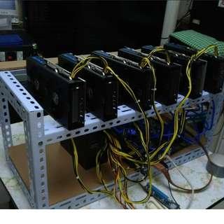 出售礦機 Asus 580 Oc 4GB x6 168mh 已超頻降電 3月機 3年保養