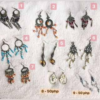 EARRINGS FOR 25 php (except for # 8, 9, 10, 13)