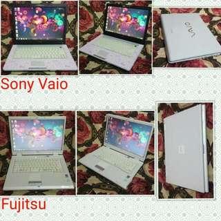 Sony vaio nd Fujitsu laptop