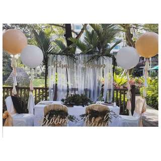 Giant Tassle Balloons for Wedding