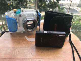 Diving camera full set with 40m depth casing