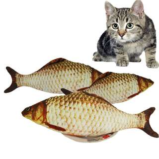 (PRE-ORDER) Popular Cat Fish Toy With Catnip