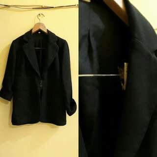 oversized blazer hitam