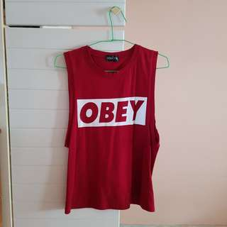 OBEY red tank top (free delivery!)