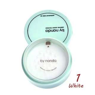 By Nanda Translucent Pressed Powder with Puff Loose Skin Finish Setting Powder Maquiagem
