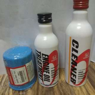 Honda Cleaner, Engine Oil Tratment And Oil Filter