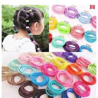 Children hair tie 100pcs