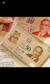 SG50 commemorative $50 notes