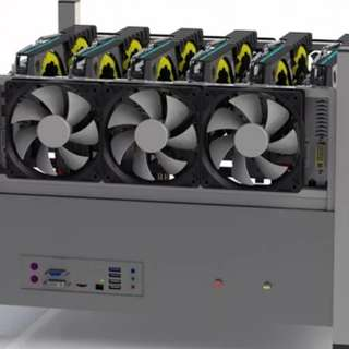 MINING RIG (Casing and 6xhigh speed fan)