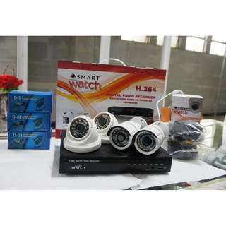 CCTV 720P HD Package with 1TR Storage (2pcs D027W and 2pcs B029W Camera)