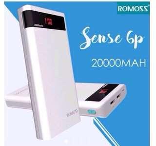 Original Romoss Sense 6P 20000mah powerbank