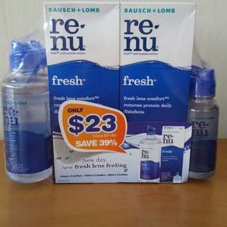 Brand New Renu Contact Lens Solution Fresh Multi Purpose For Soft Contact Lenses