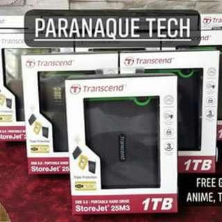 1tb transcend portable/external
