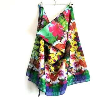 H&M Tropical Floral Design Beach Scarf
