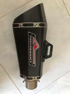 APIDO Performance slip-on muffler (carbon)