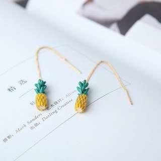 Dainty pineapple earrings