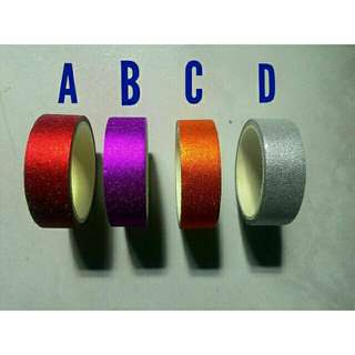 Glittered Washi Tape (Plain)