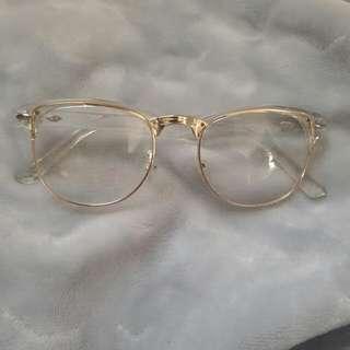 Gold/ transparent Eye wear