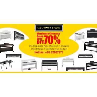 CLEARANCE SALE of Digital Piano, Keyboards, Guitars Now till 8 Apr 2018