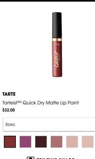 tarteist™ quick dry matte lip paint in xoxo