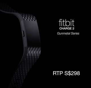Fitbit Charge 2 Gunmetal series S black