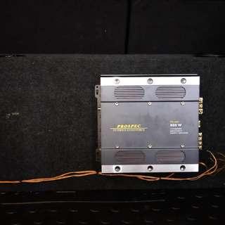 汽車重低音喇叭+擴大機+電容器