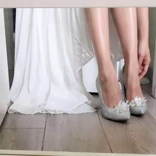 Jimmy Choo Style Bling Bling High Heels with Crystal Beaded Embellishments 童話玻璃鞋
