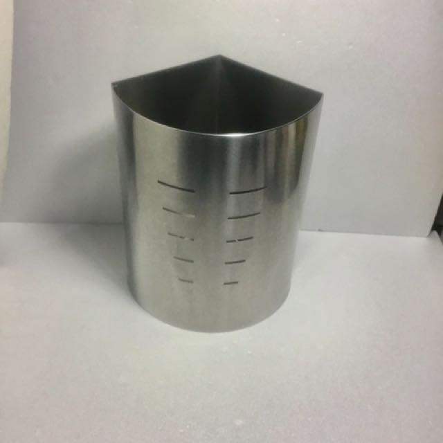 10公升 不鏽鋼 角落 垃圾桶 430不銹鋼 砂面