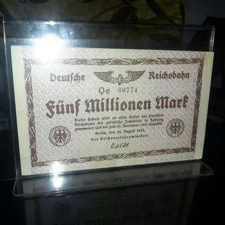 Duit Lama Germany 1000 Milion Mark 1923