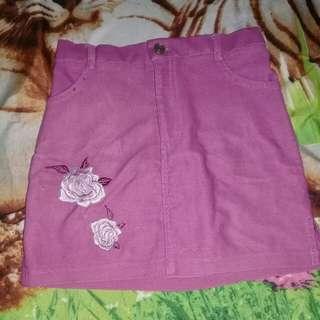 Rok anak purple flowery