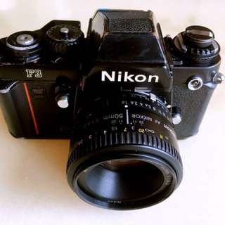 Nikon F3 with lens SLR 35mm film camera