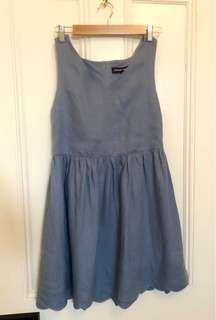 Blue Linen dress, size 10