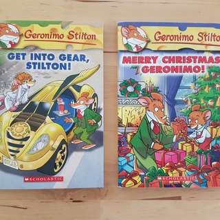 Books - Geronimo Stilton, 4 titles * 3 in brand new condition, one slightly used*
