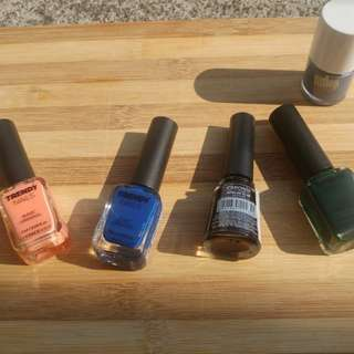 TFS, Caronia, Fitflop Nail polish Assorted (plus NYX Nude Peach Fuzz)