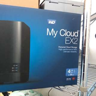 WD Mycloud EX2 2TB HDD x 2 NAS
