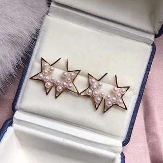 星星耳環 Akoya 珍珠